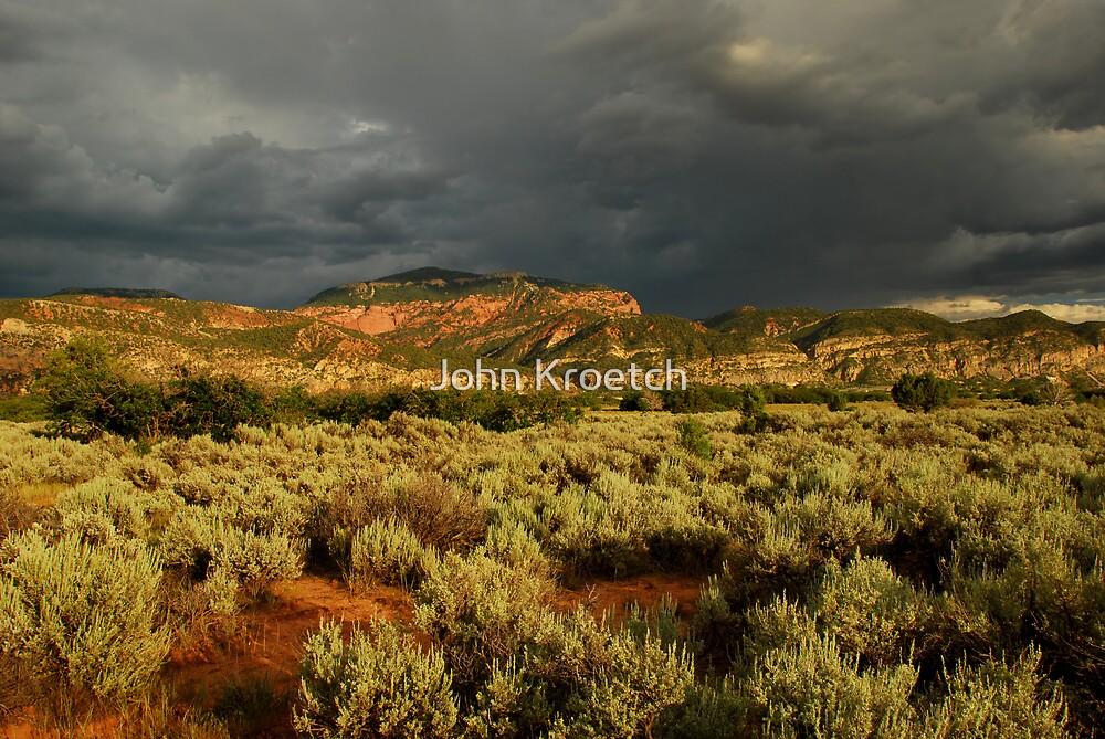 Stormy Utah Landscape by John Kroetch