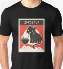 """Kawaii"" Vintage Style japanische Ramen Katze Unisex T-Shirt"