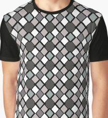 Retro Diamond accidentally X Greyscale Graphic T-Shirt