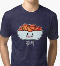 Happy Kimchi Kimchee Bowl Korean Cabbage pickled Tri-blend T-Shirt