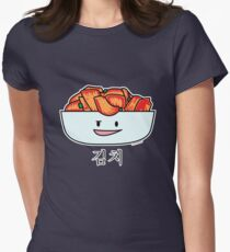 Happy Kimchi Kimchee Bowl Korean Cabbage pickled Women's Fitted T-Shirt