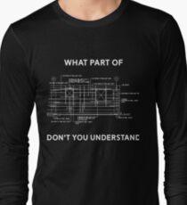 Lustiges Architekturbauingenieur-T-Shirt Geschenk Langarmshirt