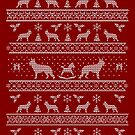 Ugly Christmas sweater dog edition - German shepherd red by Camilla Mikaela Häggblom