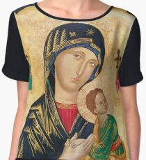 Our Mother of Perpetual Help, icon art Chiffon Top