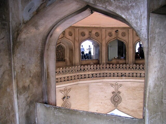 Inside the Charminar monument in Hyderabad-perspectives in light by nisheedhi
