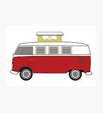 vintage bus camper Photographic Print