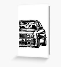 """E30 """"Dirtystyle"""" Greeting Card"""
