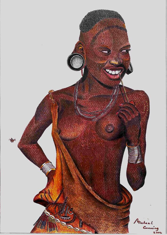 Masai girl by Mike Cumming
