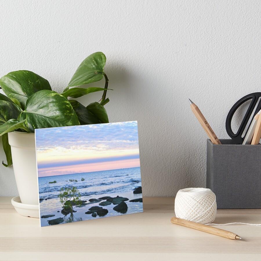 Nightcliff Sunset Art Board Print