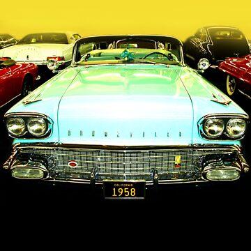 Funky Pontiac Bonneville 1958 by artyfifi