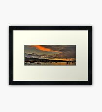 Storm Clouds - Newport Beach - The HDR Series Framed Print