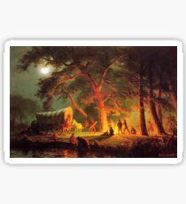 Vintage Albert Bierstadt Oregon Trail 1863 Fine Art Sticker
