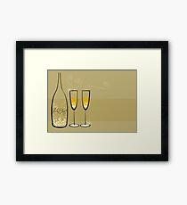 Champagne Bubbles Celebration Framed Print
