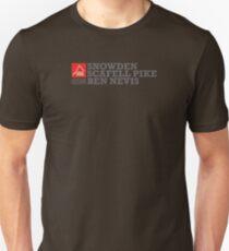 East Peak Apparel - Mountain Print - 3 Peak Challenge T-Shirts Unisex T-Shirt