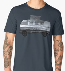 double exposure camper bus Men's Premium T-Shirt