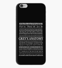 typography black iPhone Case