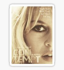 Le mépris (Contempt), Brigitte Bardot, movie poster, french film by Jean-Luc Godard, Fritz Lang, nouvelle vague Sticker