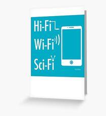 Hi-Fi Wi-Fi Sci-Fi Greeting Card