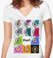 day6 every day6 Women's Fitted V-Neck T-Shirt