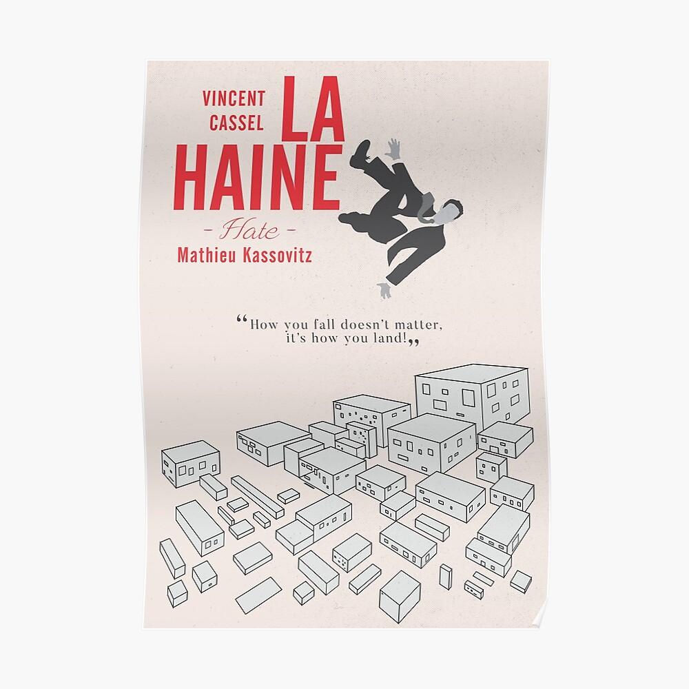 La Haine (Hass) Vincent Cassel, Mathieu Kassovitz, alternatives Filmplakat, 1995 französischer Film über das Leben in der Banlieue Poster
