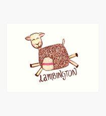 Lambington - White Art Print