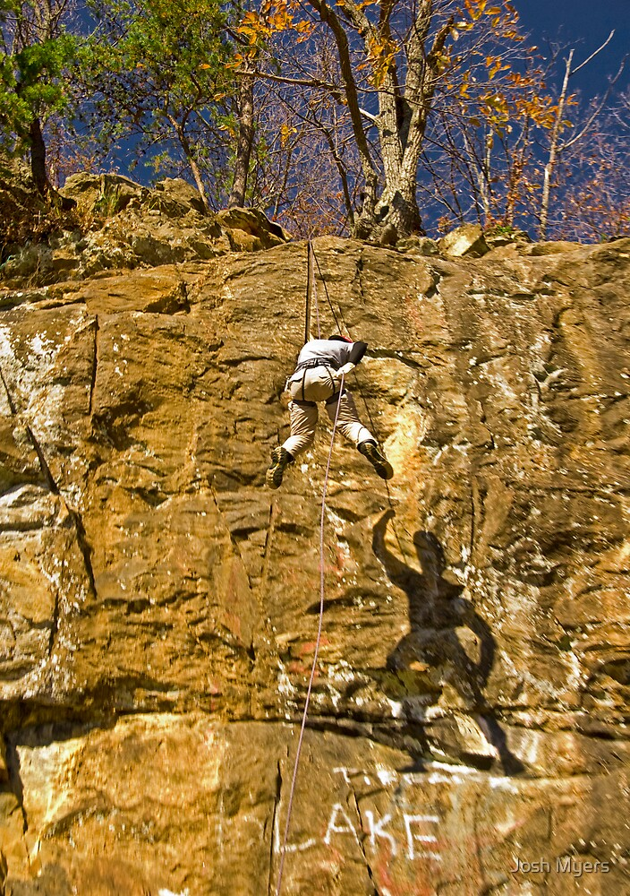 Sqaral Repelling off of Woody Gap by Josh Myers