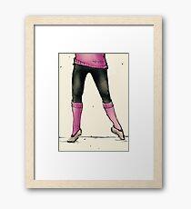 Dancing Feet Illustration Framed Print