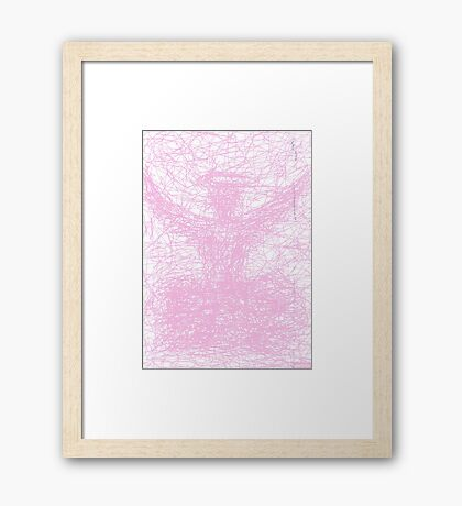 2513 - Shadow of a Pink Preacher in a Pink-Colored Cloud Gerahmtes Wandbild