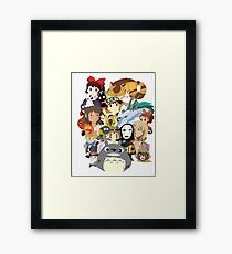 Studio Ghibli Collage Framed Print