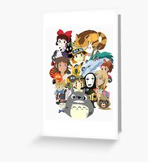 Studio Ghibli Collage Greeting Card