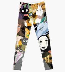 Studio Ghibli Collage Leggings