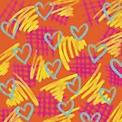 Burnt Orange Heart by Dyan Burgess