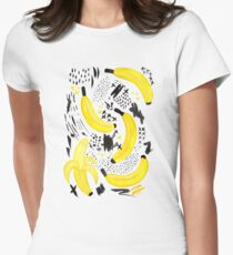 Unreal Banana Peel Women's Fitted T-Shirt