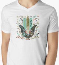 Hamsa Hand – Earth Palette Men's V-Neck T-Shirt
