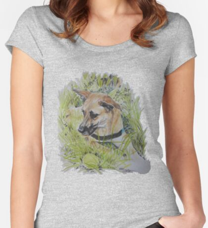 Dog ~ Hond Fitted Scoop T-Shirt