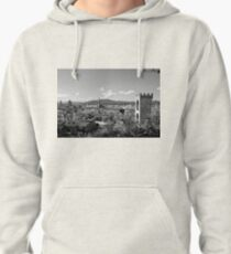 black and white Florence landscape Pullover Hoodie