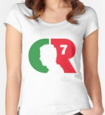 CR7 logo portugal Women's Fitted Scoop T-Shirt