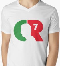 CR7 logo portugal Men's V-Neck T-Shirt