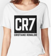 Cristiano Ronaldo black Women's Relaxed Fit T-Shirt