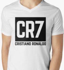Cristiano Ronaldo black Men's V-Neck T-Shirt