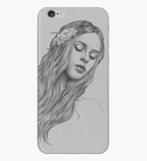 Patience digital illustration of a young girl iPhone Case