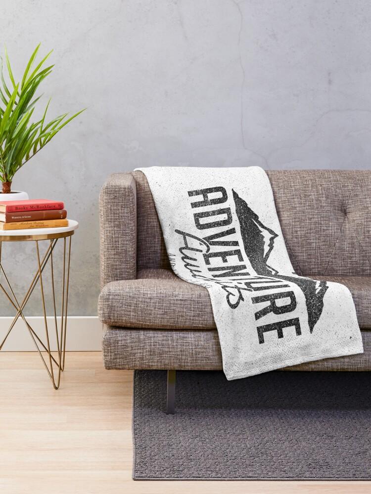 Alternate view of ADVENTURE AWAITS Throw Blanket