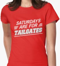 Saturdays are for Tailgates Women's Fitted T-Shirt