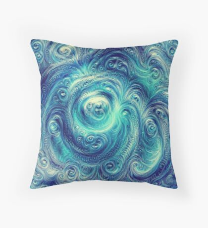 Cyclone #DeepDream Throw Pillow