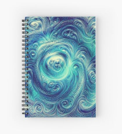 Cyclone #DeepDream Spiral Notebook