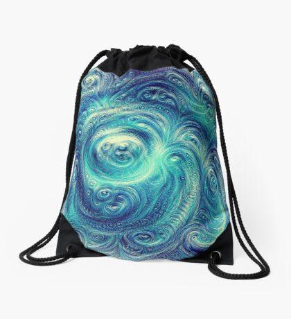 Cyclone #DeepDream Drawstring Bag