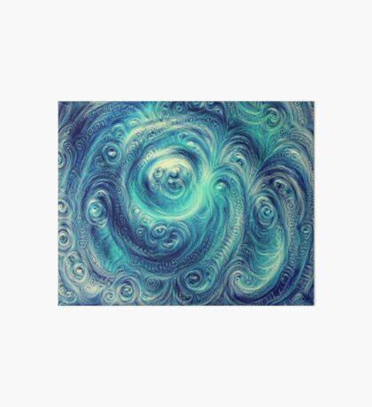 Cyclone #DeepDream Art Board Print