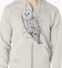 Leaf Barn Owl Zipped Hoodie