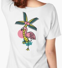 Friendly Flamingo Women's Relaxed Fit T-Shirt