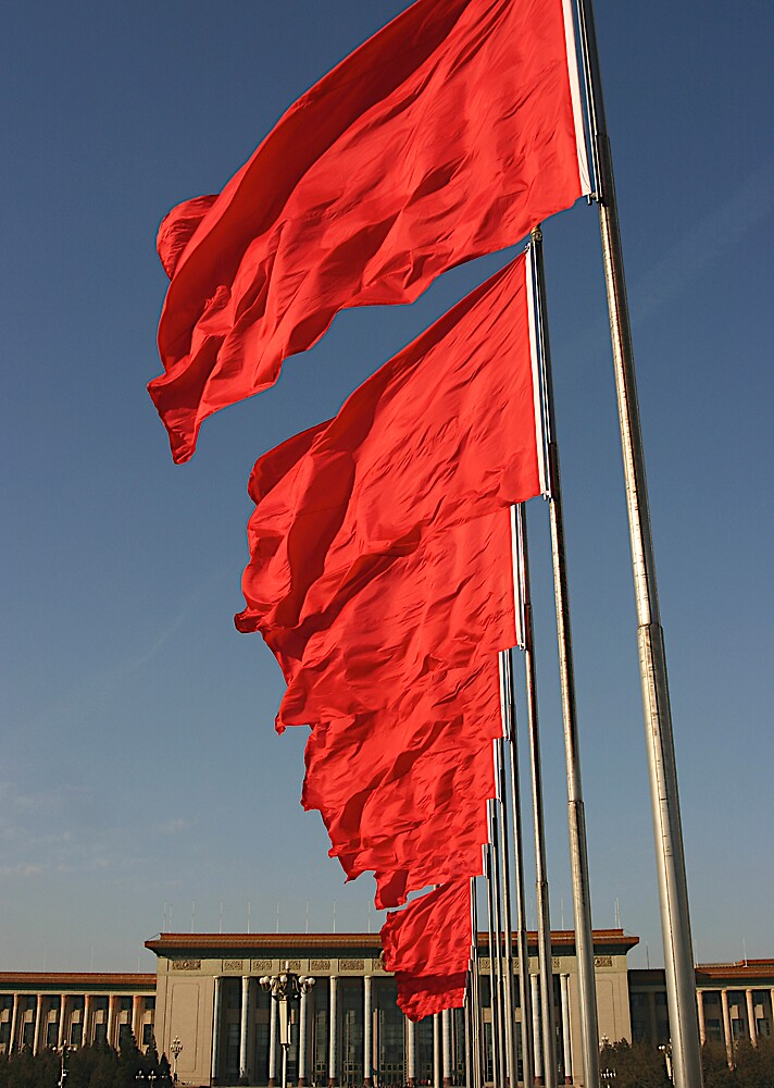 china flags by jean-jacques bernard